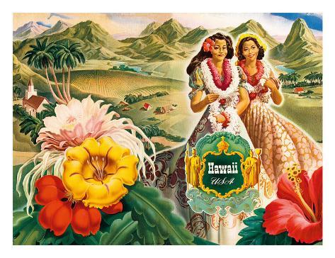 Hawaii USA, 1942 Hawaii Tourist Bureau booklet Giclee Print