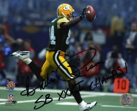 Andre Rison Green Bay Packers  Super Bowl XXXI with SB XXXI Champs Inscription Photo