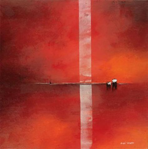 Deep Red I Art Print