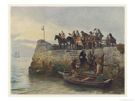 Lost Cause: The Flight of King James II after the Battle of the Boyne Giclee Print