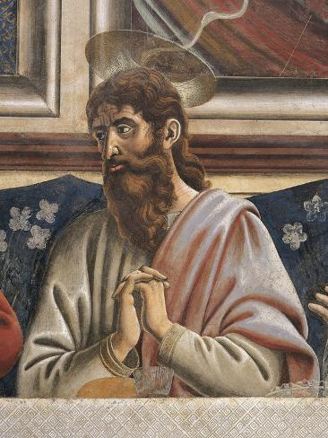 Bartholomew with Clasped Hands, Detail from the Last Supper, 1450 Giclee Print