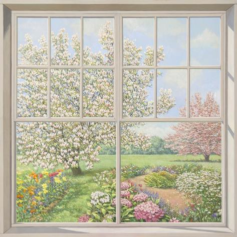 Finestra sul giardino stretched canvas print by andrea del missier at - La finestra sul giardino ...