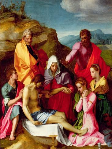 Deposition with Virgin Mary and Saints, 1523-24 Lámina giclée