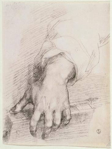 Study of a Hand For the Madonna of the Harp Giclee Print