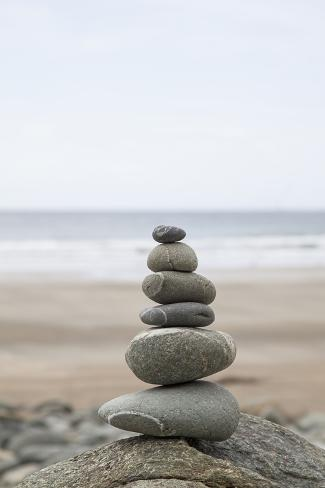 Stone Tower Balance Pebble Stones Beach
