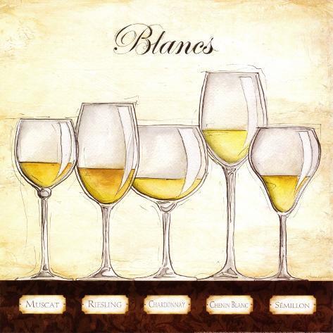 Les Vins Blancs Art Print