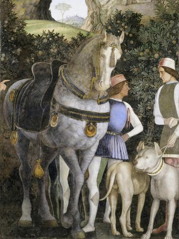 La Camera Degli Sposi: Grooms with Horse and Two Dogs Giclee Print