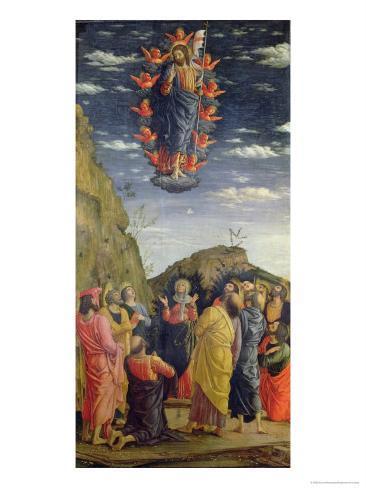 The Ascension, Left Hand Panel from the Altarpiece, c.1466 Lámina giclée