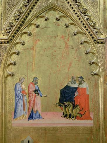 The Miracle of the Dragons, from the Altarpiece of St. Matthew and Scenes from His Life, c.1367-70 Giclee Print