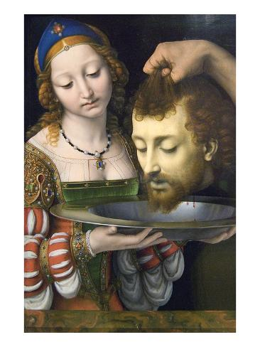 Salome with the Head of Saint John the Baptist Art Print