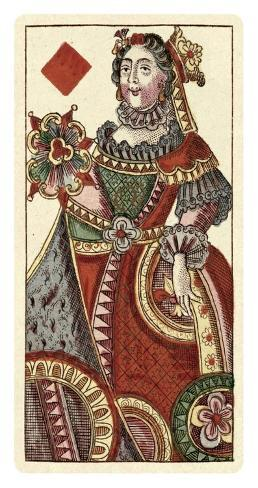 Queen of Diamonds (Bauern Hochzeit Deck) Art Print
