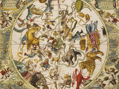 Atlas Coelestis Seu Harmonia Macrocosmica, 18th Century Giclee Print