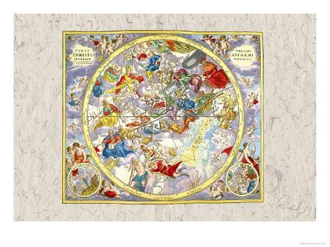 Celestial Sky Chart Lámina