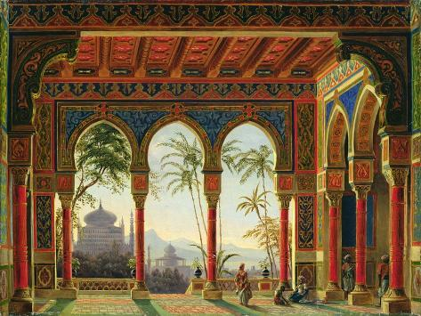 Stage Design for the Opera 'Ruslan and Lyudmila' by M. Glinka, 1842 Giclee Print