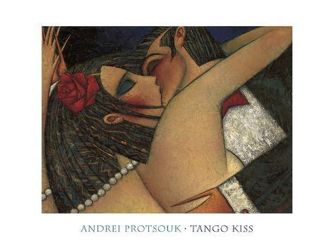 Tango Kiss Art Print