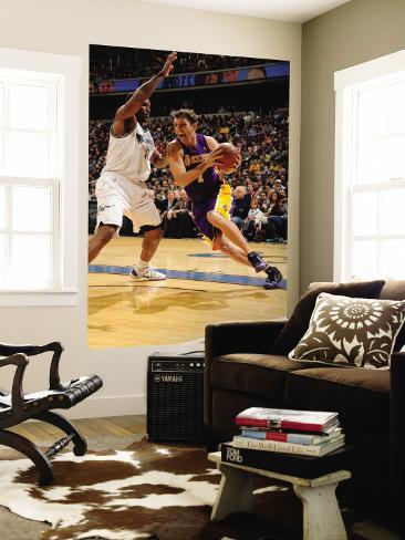 Los Angeles Lakers v Washington Wizards: Luke Walton and Trevor Booker Wall Mural