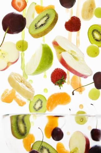 Fresh Mixed Fruit with Apple & Orange Juice Valokuvavedos