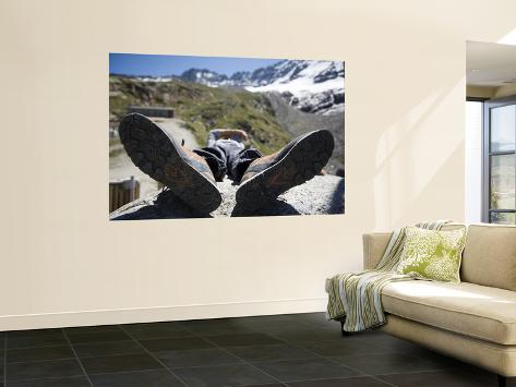 Climbing Guide Resting at Refugio Chabot Giant Art Print