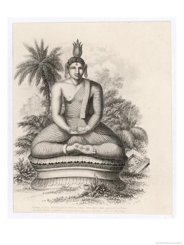 Siddhartha Gautama the Buddha, Statue of the Seated Buddha Giclee Print