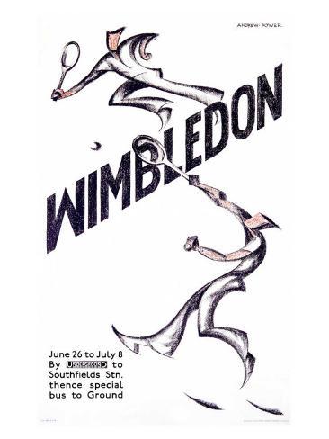 Wimbledon Tennis Giclee Print