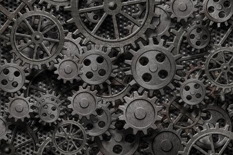 オールポスターズの andrey kuzmin many old rusty metal gears or