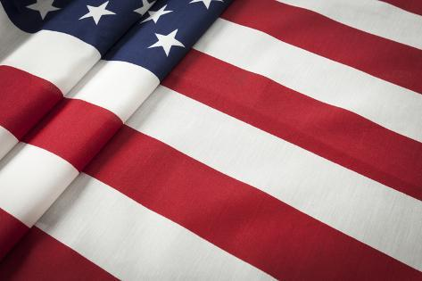 Folded American Flag Abstract. Photographic Print