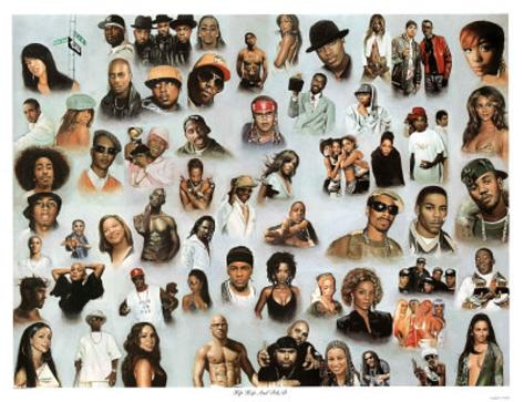 Hip Hop and R&B Art Print