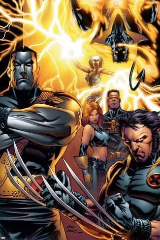 Ultimate X-Men No.50 Cover: Colossus, Wolverine, Nightcrawler, Grey, Jean, Cyclops, Storm and X-Men Poster