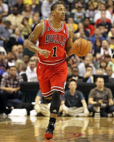 Chicago Bulls v Indiana Pacers - Game Three, Indianapolis, IN - APRIL 21: Derrick Rose Photo