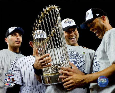 Andy Pettitte, Jorge Posada, Derek Jeter, & Mariano Rivera Game Six of the 2009 MLB World Series Photo