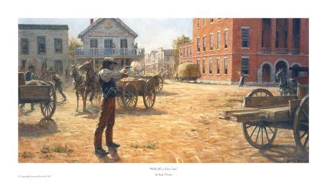 Wild Bill Hickock vs. Dave Tutt Stampa artistica