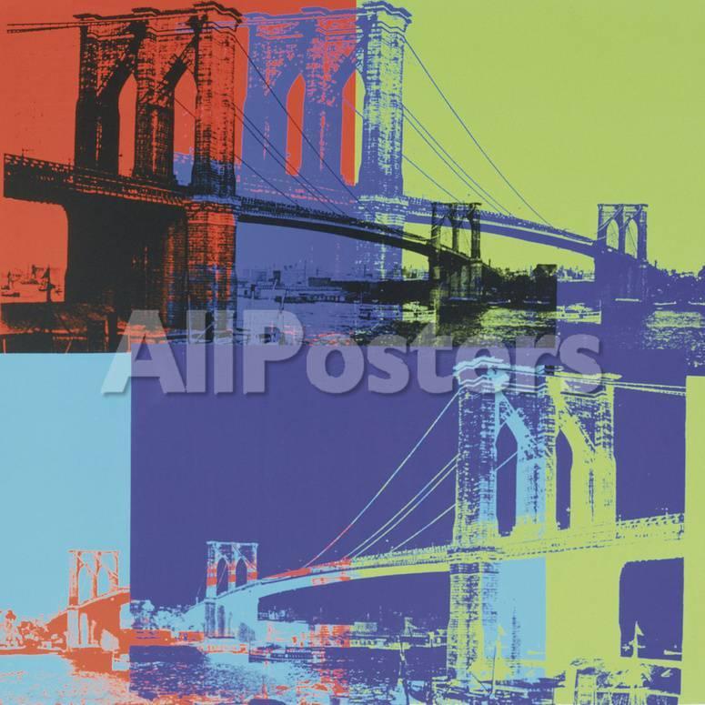 brooklyn bridge c 1983 orange blue lime prints by andy warhol