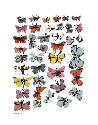 Butterflies, 1955 (Many/Varied Colors) Stampa artistica