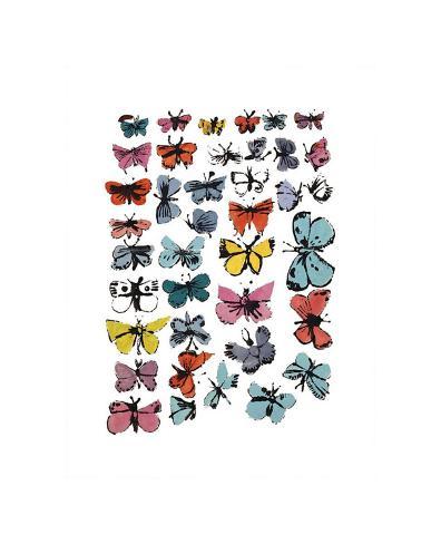 Butterflies stampa gicl e di andy warhol su for Ricerca su andy warhol