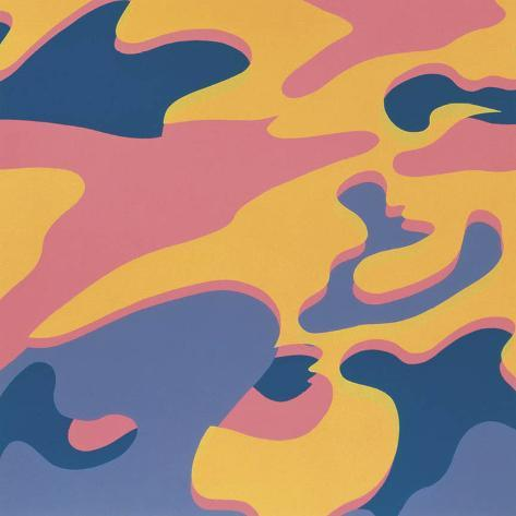 Camouflage, 1987 (Pink, Purple, Orange) Art Print