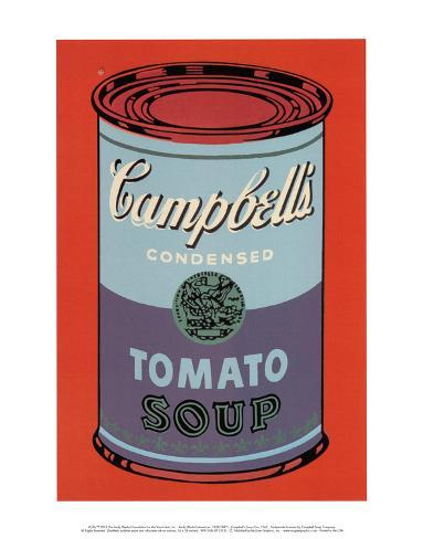 Campbell's Soup Can, 1965 (Blue and Purple) Stampa artistica
