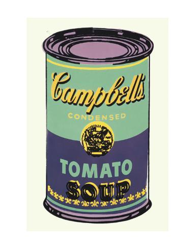 Campbell's Soup Can, 1965 (Green and Purple) Art Print