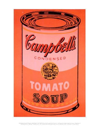 Campbell 39 s soup can orange stampa di andy warhol for Barattoli di zuppa campbell s