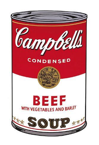 Campbell's Soup I: Beef, c.1968 Art Print