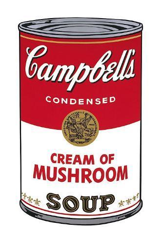 Campbell's Soup I: Cream of Mushroom, c.1968 Art Print
