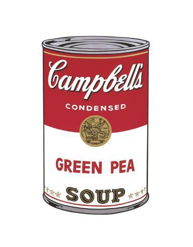 Campbell's Soup I: Green Pea, c.1968 Art Print