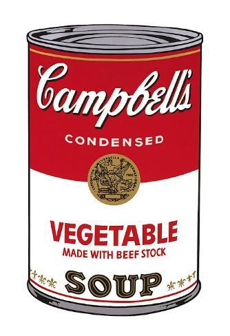 Campbell's Soup I: Vegetable, c.1968 Art Print