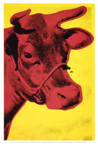 Cow, c.1966 (Yellow and Pink) Art Print