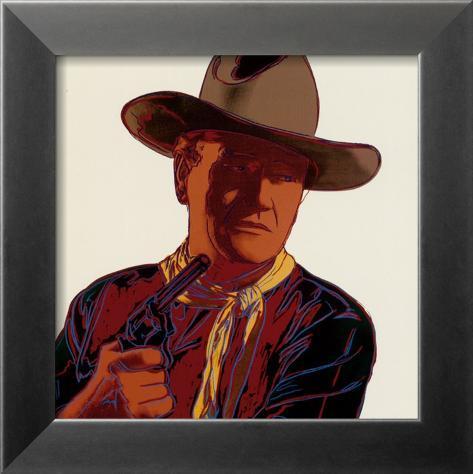 Cowboys and Indians: John Wayne 201/250, 1986 Framed Art Print