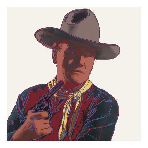 Cowboys & Indians: John Wayne, 1986 Art Print