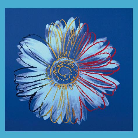Daisy, c.1982 (Blue on Blue) Art Print