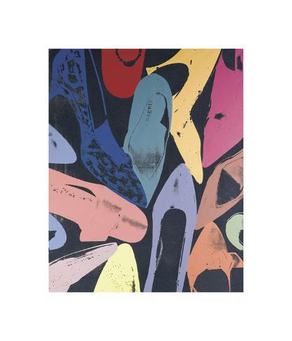 Diamond Dust Shoes, c.1980 (Lilac, Blue, Green) Gicléetryck