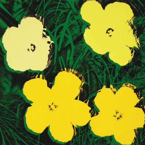 Flowers, c.1970 (4 yellow) Stampa artistica
