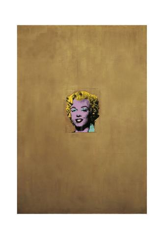 Gold Marilyn Monroe, 1962 Art Print