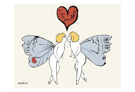 i love you so c 1958 angel pôsters por andy warhol na allposters